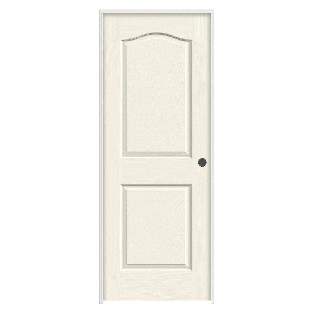 36 in. x 80 in. Princeton Vanilla Painted Left-Hand Smooth Solid