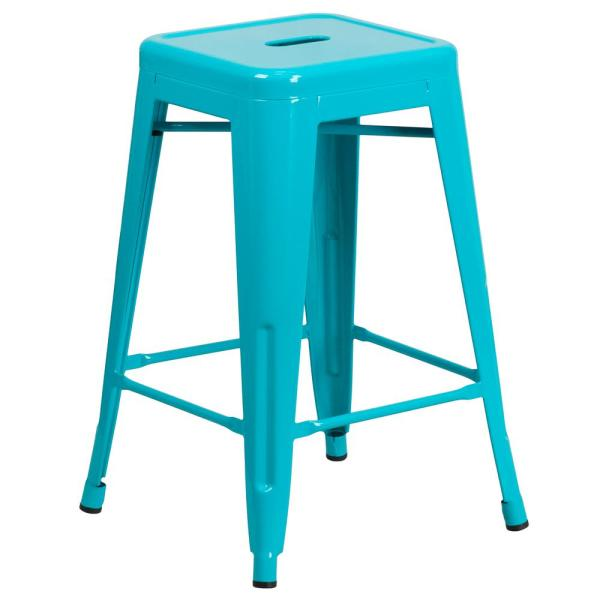 24 in. Crystal Blue Bar Stool