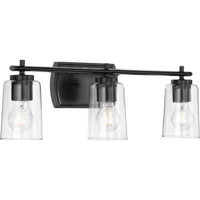 Adley 3-Light Black Bath Light