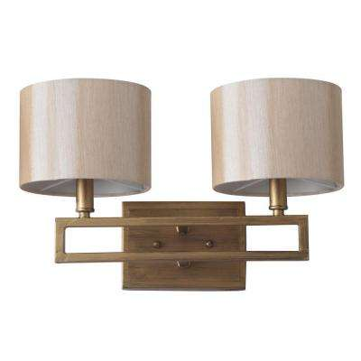 Catena 2-Light Antique Gold Sconce