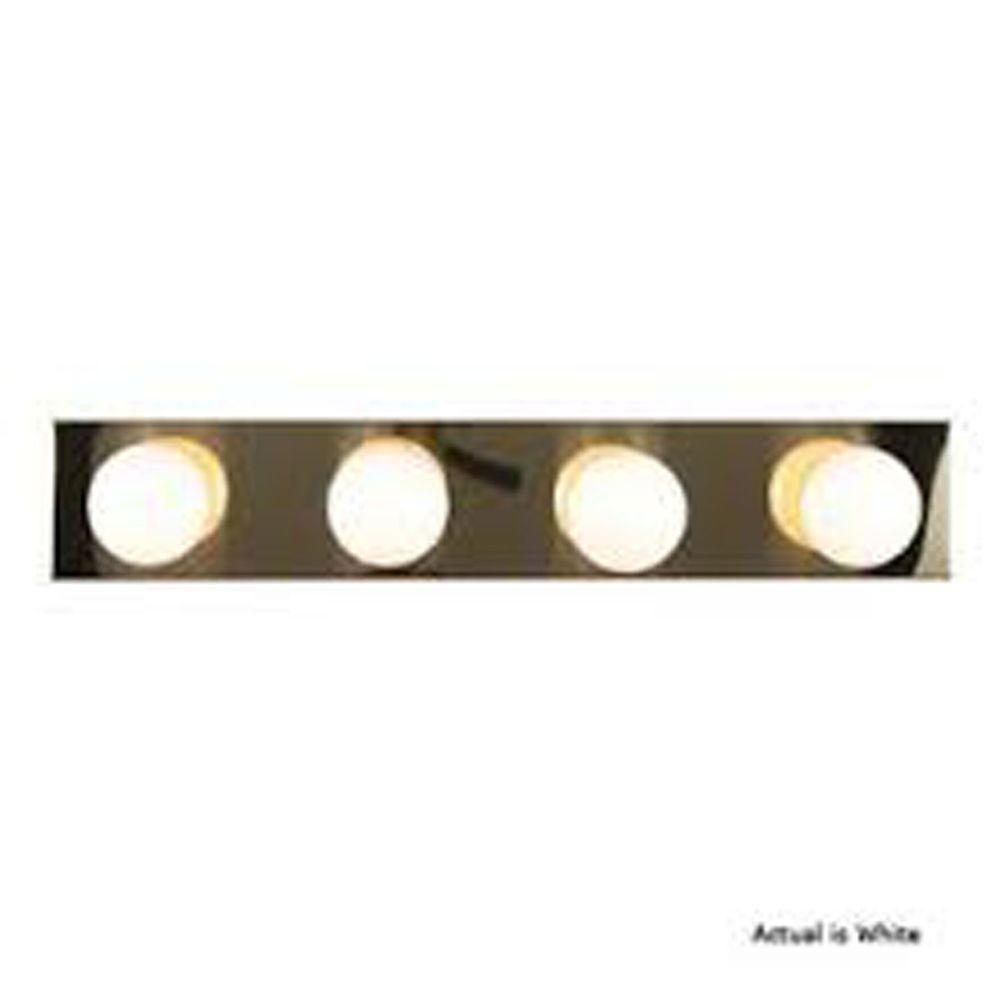 Lenor 4-Light White Incandescent Wall Bath Vanity Light