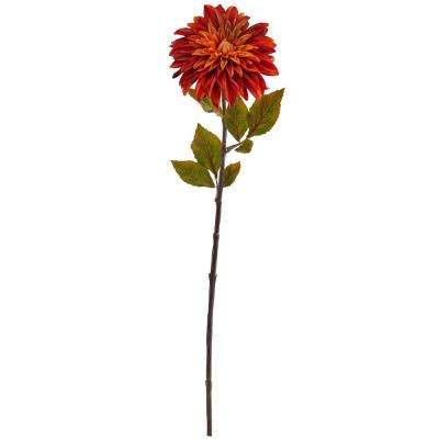Indoor 28 in. Dahlia Artificial Flower (Set of 6)