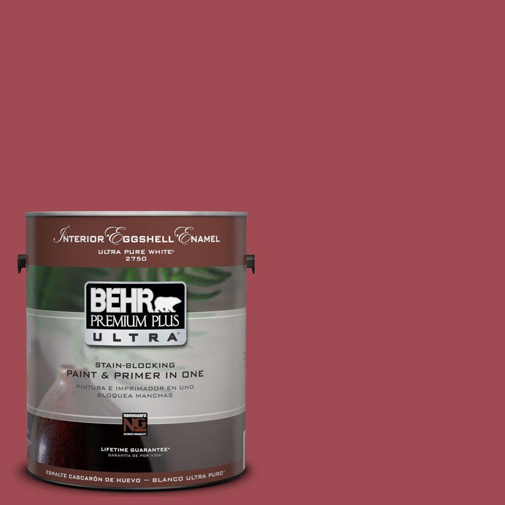 BEHR Premium Plus Ultra 1-gal. #UL100-11 Powder Room Interior Flat Enamel Paint-DISCONTINUED