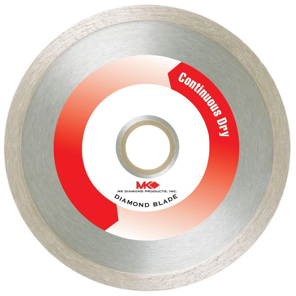 MK Diamond 4 in. Continuous Dry General-Purpose Diamond Saw Blade