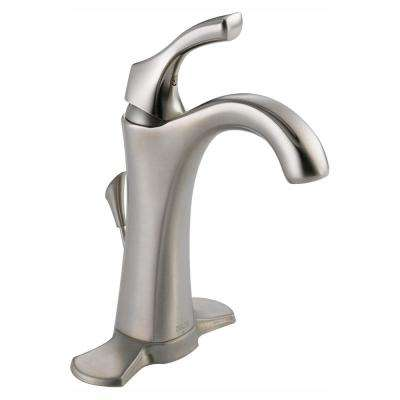 Addison Single Hole Single-Handle Bathroom Faucet with Metal Drain Assembly in Stainless