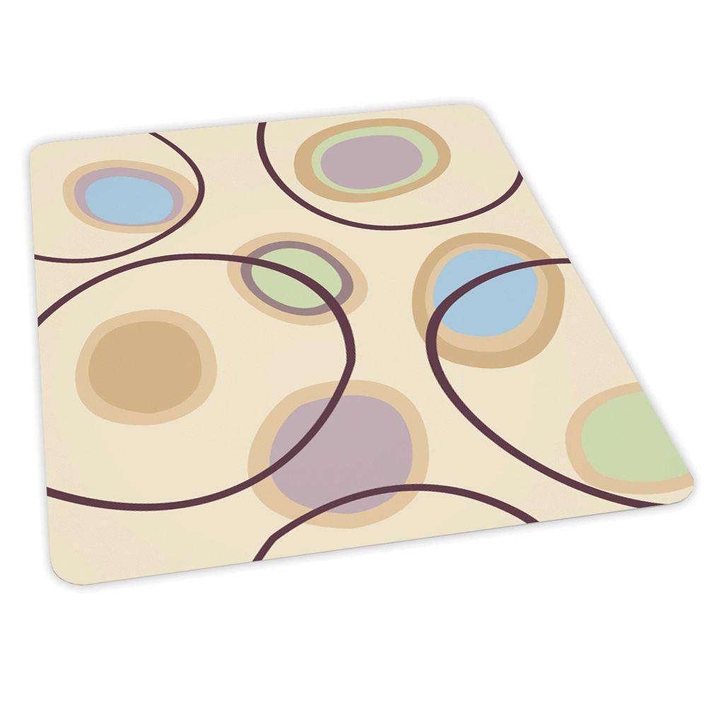 ES Robbins Design Circles Print 36 in. x 48 in. Carpet Vinyl Chair Mat