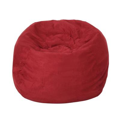 Bates Chinese Red Suede Bean Bag Cover