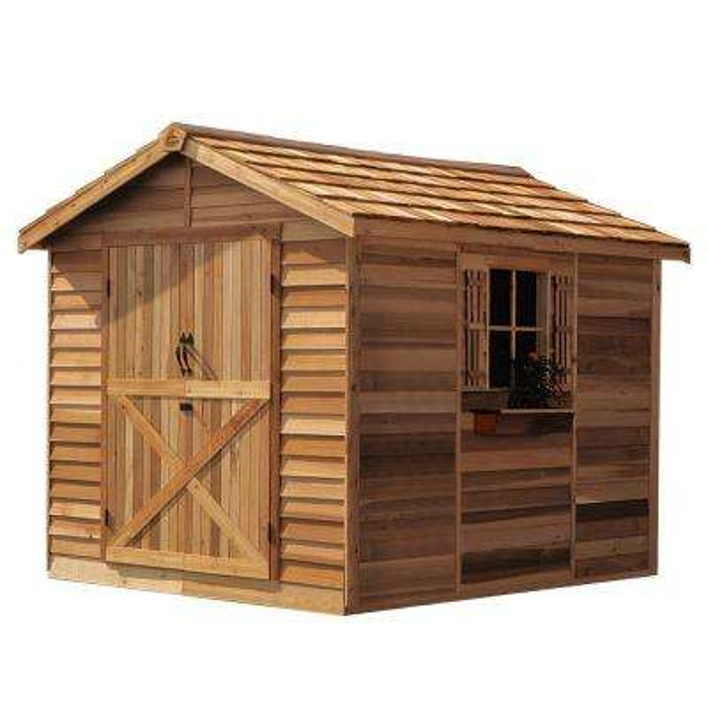 Rancher 8 ft. x 12 ft. Western Red Cedar Garden Shed