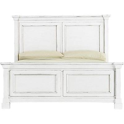 Bridgeport Antique White Queen Bed Frame