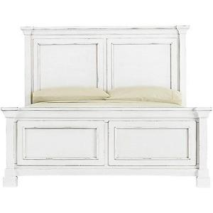 4 Bridgeport Antique White Queen Bed Frame