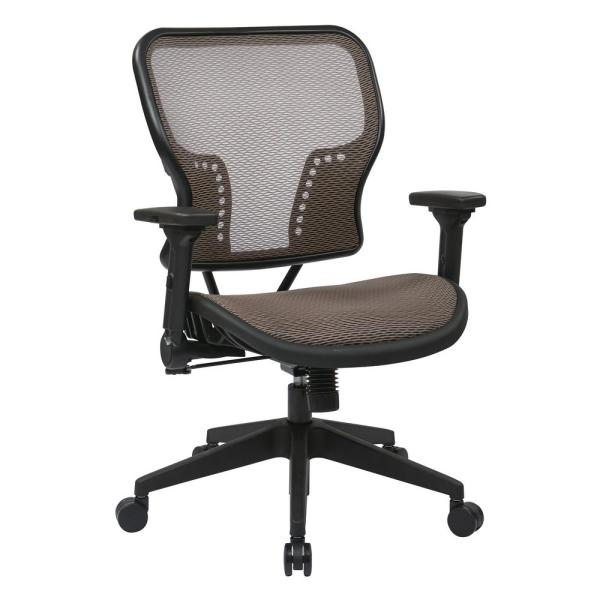 Black Latte Air Grid Seat and Back Chair