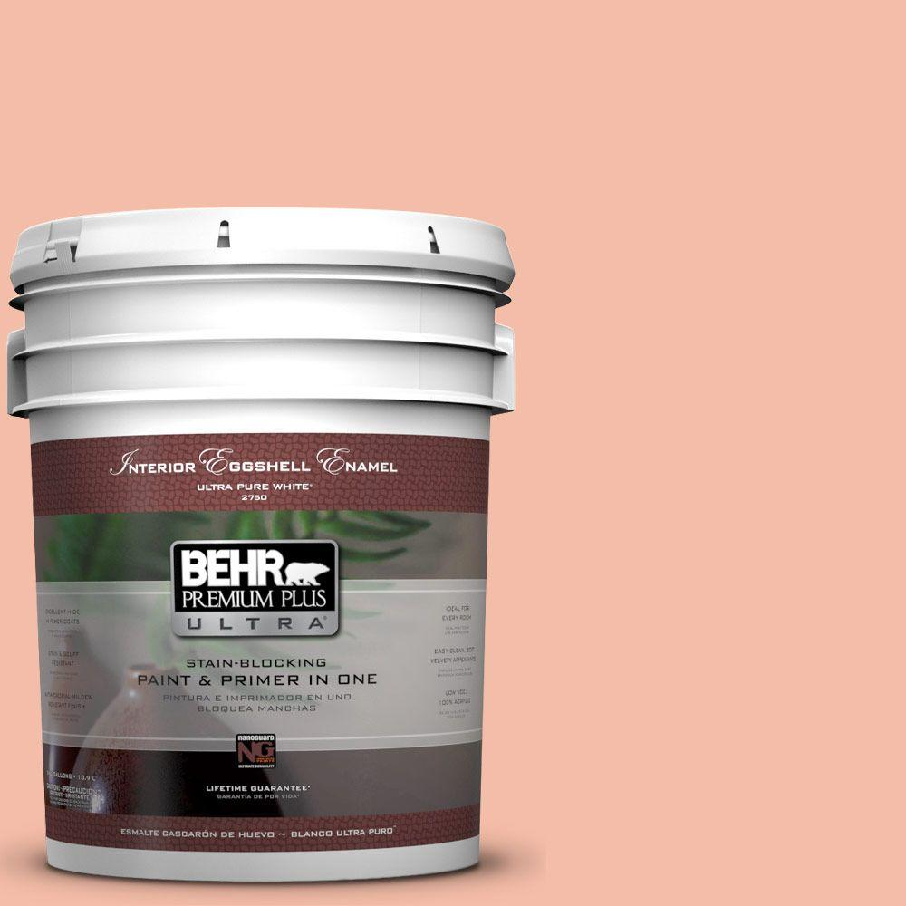 BEHR Premium Plus Ultra 5-gal. #HDC-SP14-4 Heirloom Apricot Eggshell Enamel Interior Paint