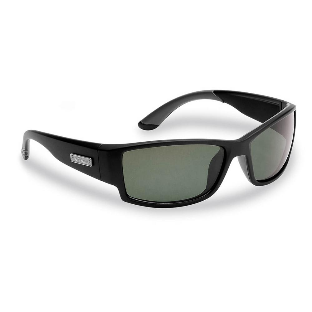 a46543a818 Flying Fisherman. Razor Polarized Sunglasses Matte in Black Frames with  Smoke Lens
