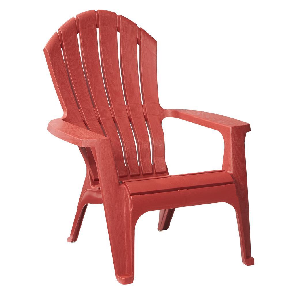 RealComfort Brickstone Red Patio Adirondack Chair