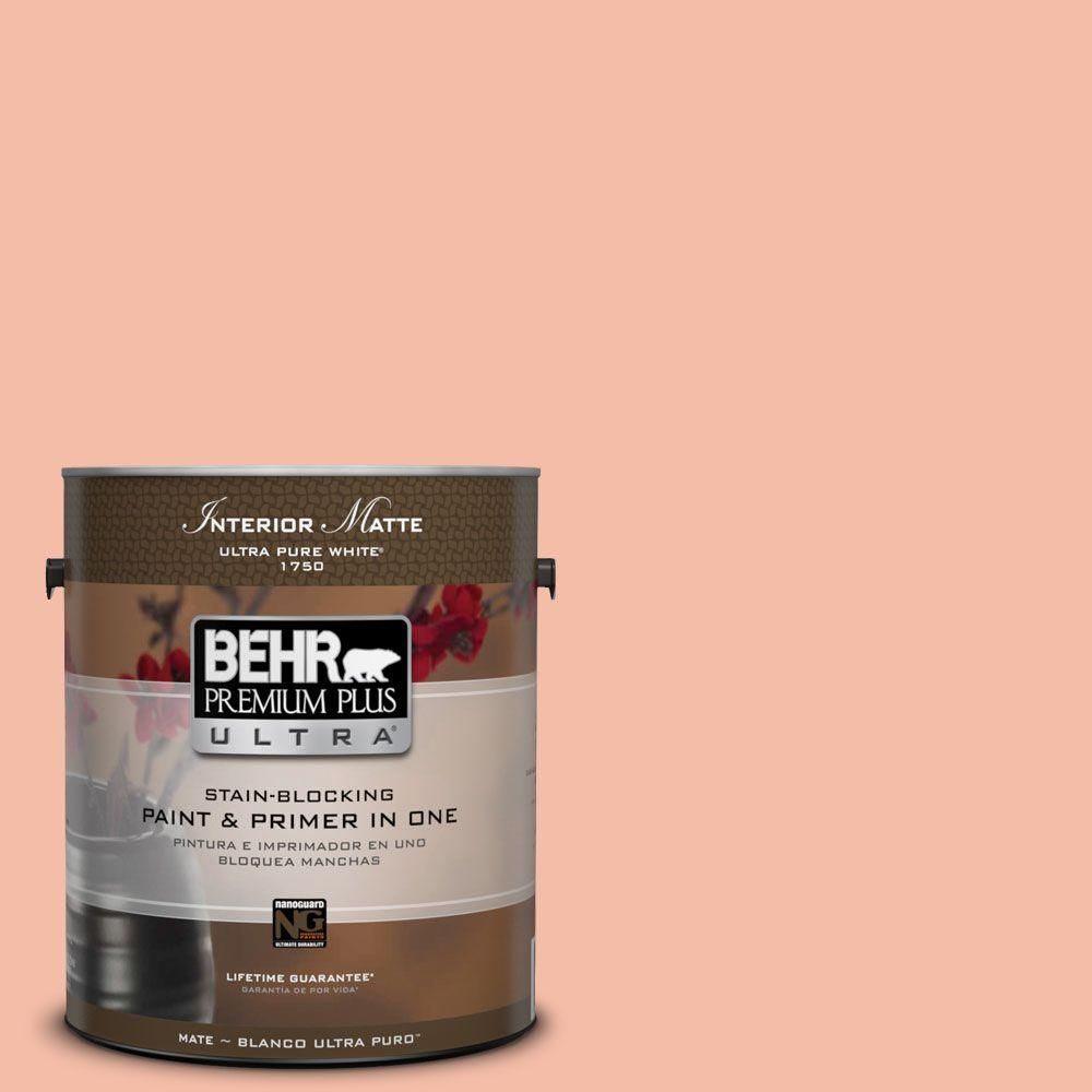 1 gal. #HDC-SP14-4 Heirloom Apricot Matte Interior Paint and Primer in