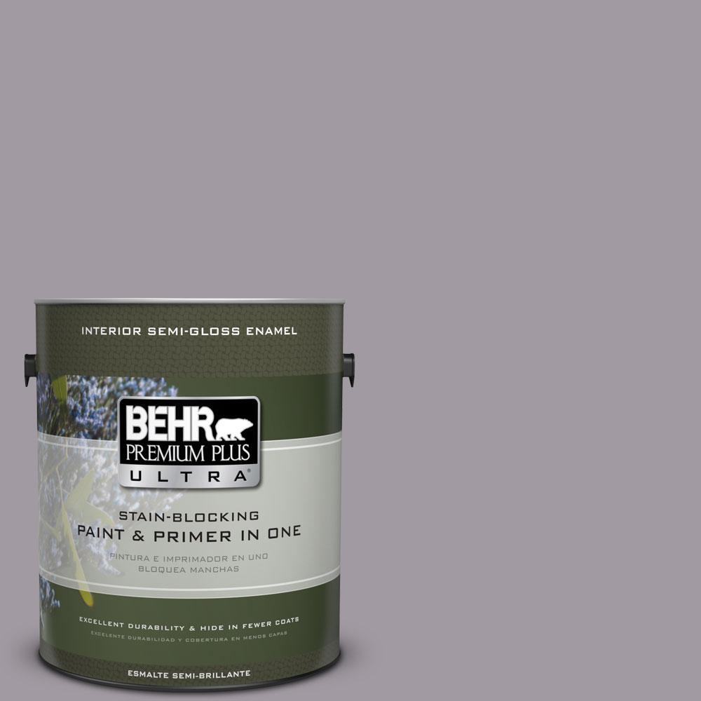 BEHR Premium Plus Ultra 1-gal. #N570-3 Art Nouveau Glass Semi-Gloss Enamel Interior Paint