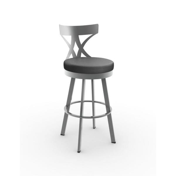 Enjoyable Washington 30 In Grey Metal Charcoal Black Polyurethane Barstool Uwap Interior Chair Design Uwaporg