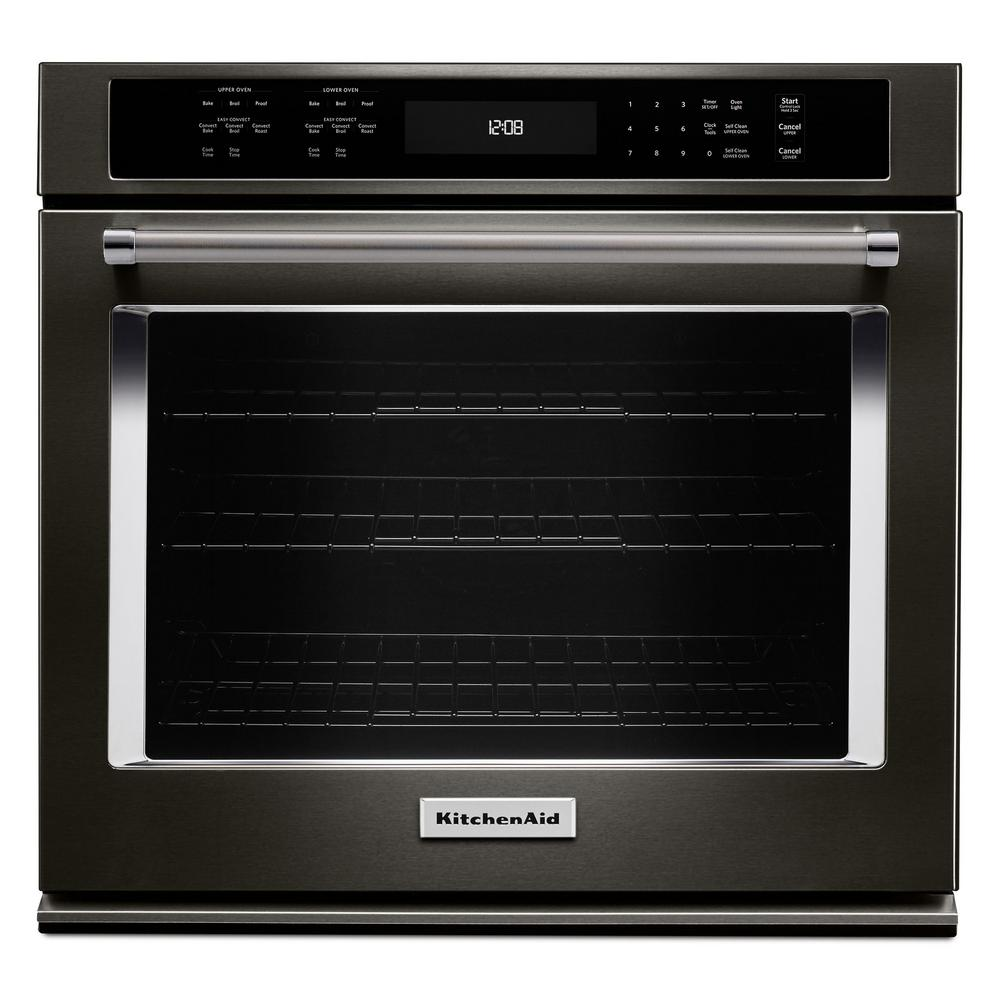 Great Single Electric Wall Oven Self Cleaning With Convection In Black Stainless