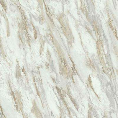5 ft. x 12 ft. Laminate Sheet in Drama Marble with Premium Textured Gloss
