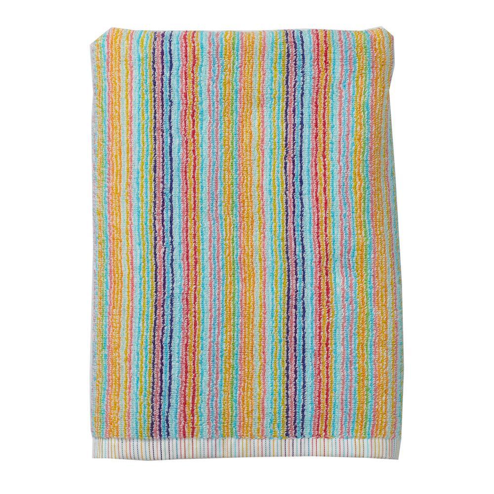 Stripe Cotton Single Bath Towel in Multi Color