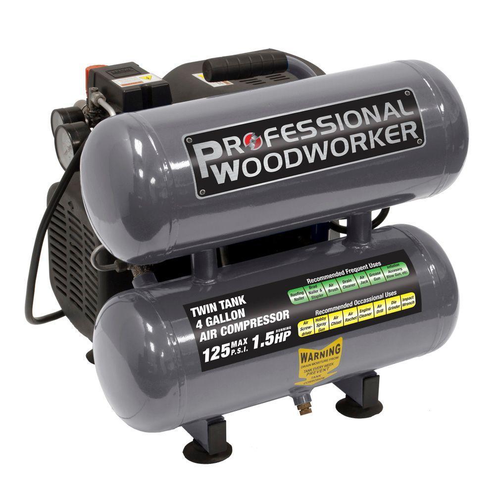 pro duty twin stack oillube air compressor