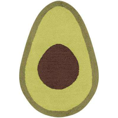 Cucina Avocado 2 ft. x 3 ft. Kitchen Mat