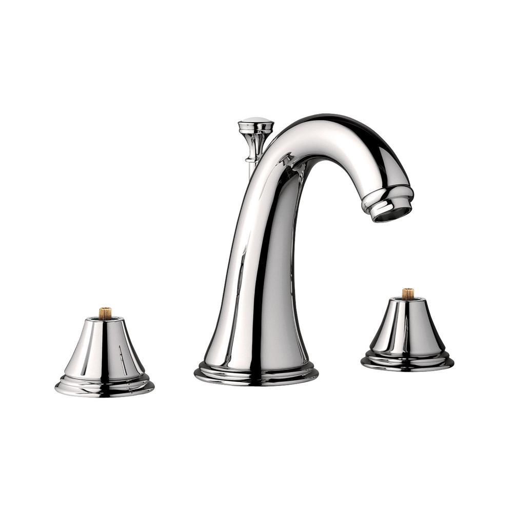 Grohe geneva 8 in widespread 2 handle 1 2 gpm bathroom - Polished nickel widespread bathroom faucet ...