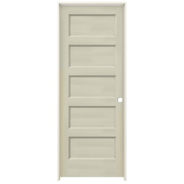 30 in. x 80 in. Conmore Desert Sand Paint Smooth Solid Core Molded Composite Single Prehung Interior Door