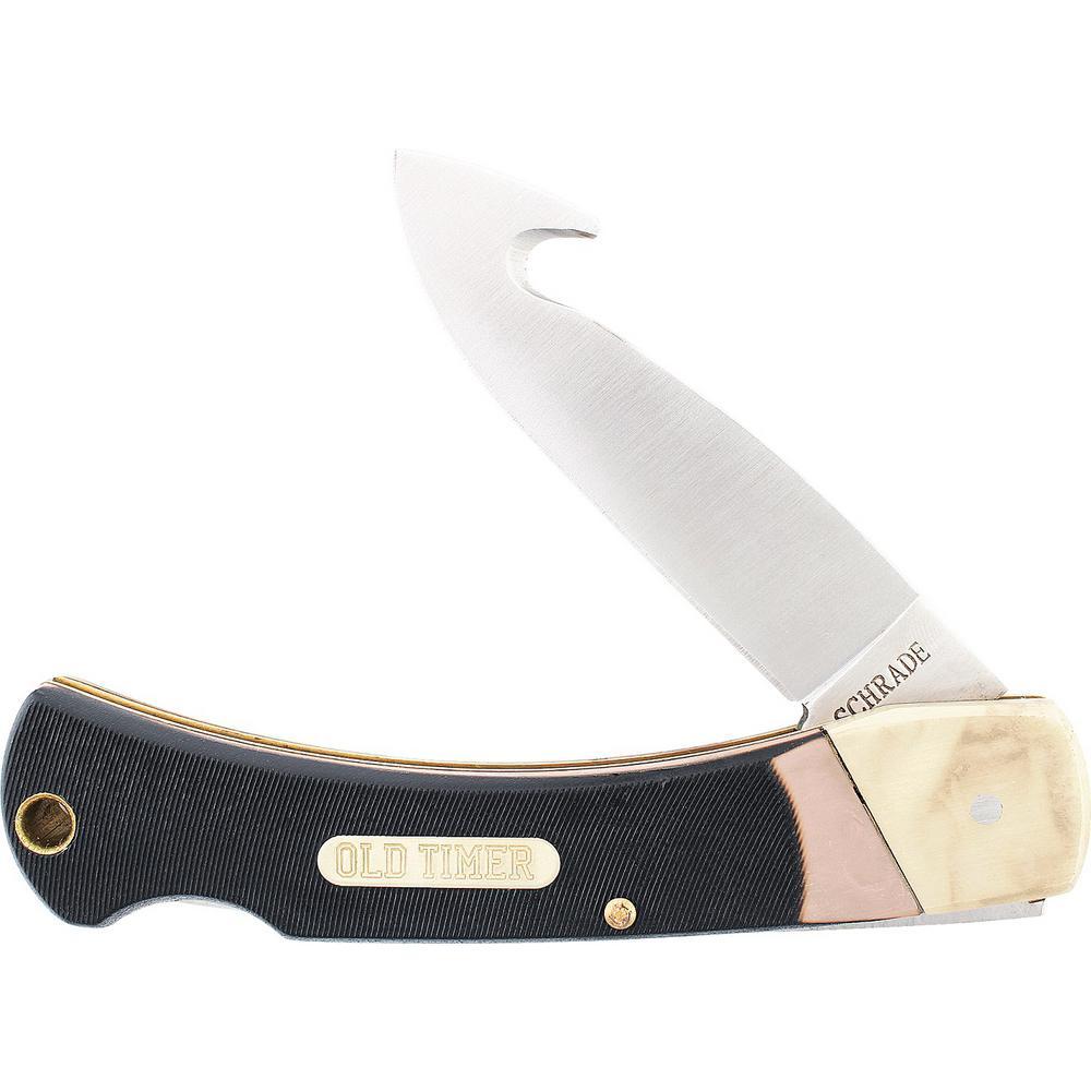 Old Timer Golden Claw Lockback Folding Guthook Pocket Knife