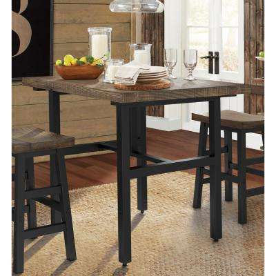 Pomona 36 in. H Brown Reclaimed Wood Counter Height Dining Table