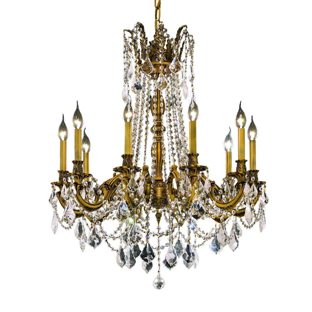Gold crystal hardware included chandeliers lighting the 10 light french gold chandelier with clear crystal arubaitofo Choice Image