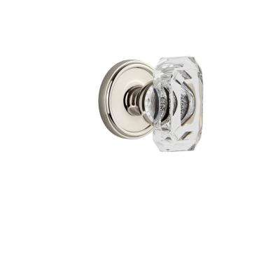 Georgetown Rosette 2-3/4 in. Backset Polished Nickel Passage Hall/Closet with Baguette Crystal Door Knob