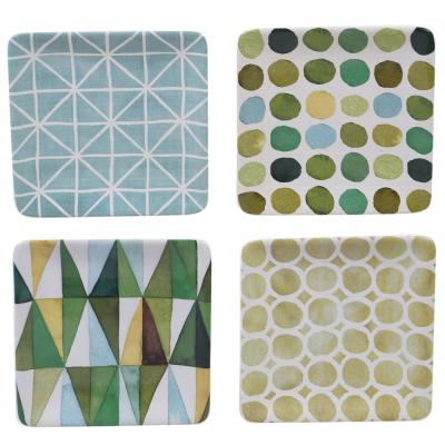 Patterns Multi-color Canape Plate (Set of 4)