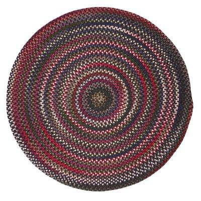 Mayberry Rosewood Multi 10 ft. x 10 ft. Braided Round Area Rug