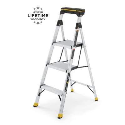 4.5 ft. 250 lbs. Load Capacity Type I Duty Rating Aluminum Hybrid Ladder with Tray, 9 ft. H Reach