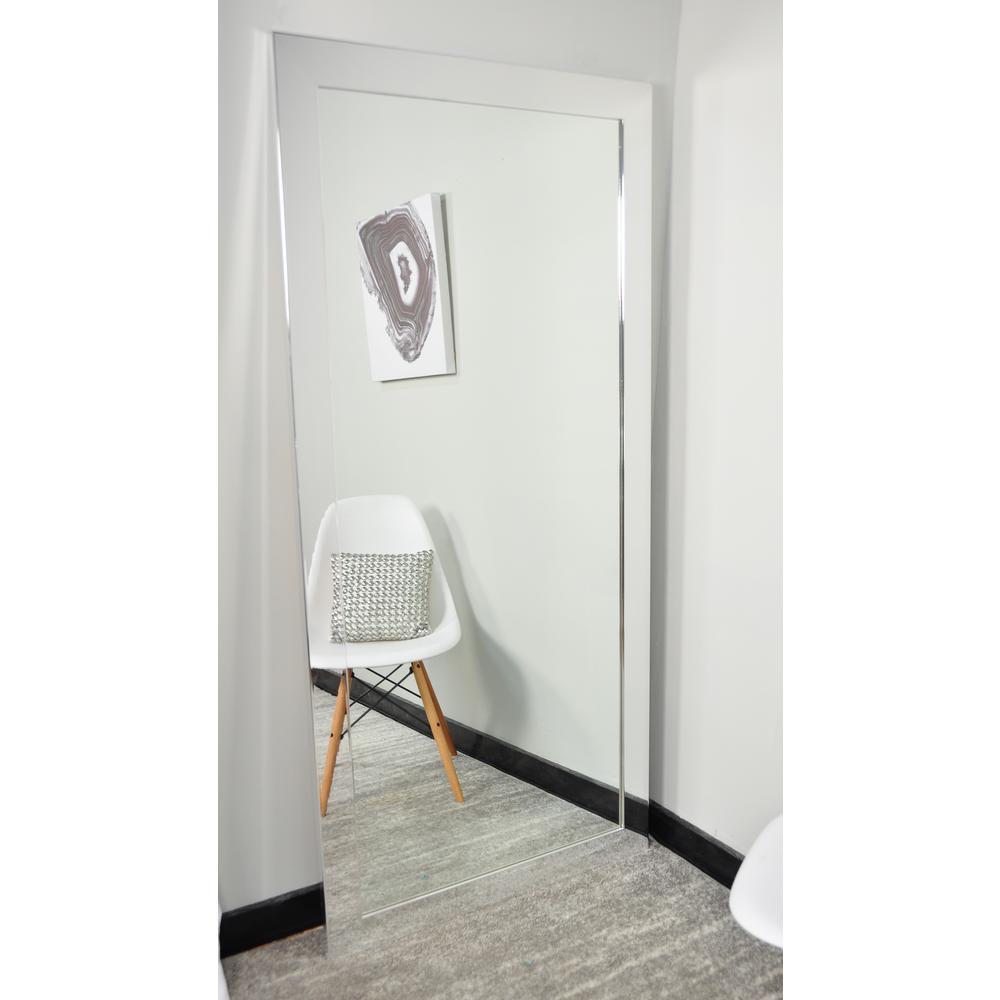 Ultra Modern Chrome Tall Framed Mirror-BM015TS - The Home Depot