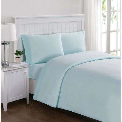 Everyday Solid Jersey Aqua Twin Xl Sheet Set
