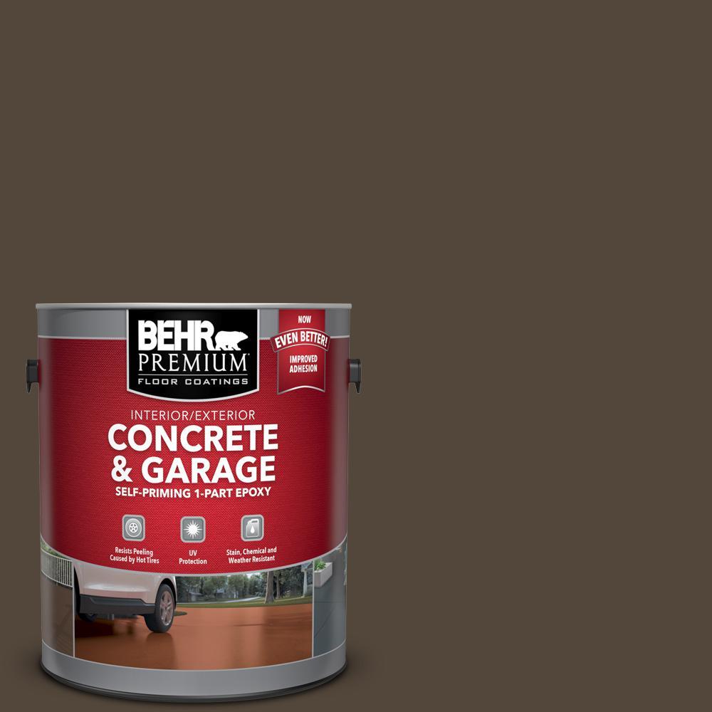 BEHR Premium 1 gal. #N210-7 Havana Coffee Self-Priming 1-Part Epoxy Satin Interior/Exterior Concrete and Garage Floor Paint