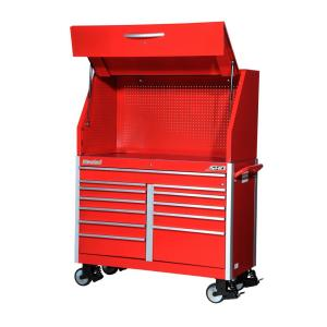 International SHD Series 54 inch 12-Drawer Tool Chest and Cabinet Combo in Red by International