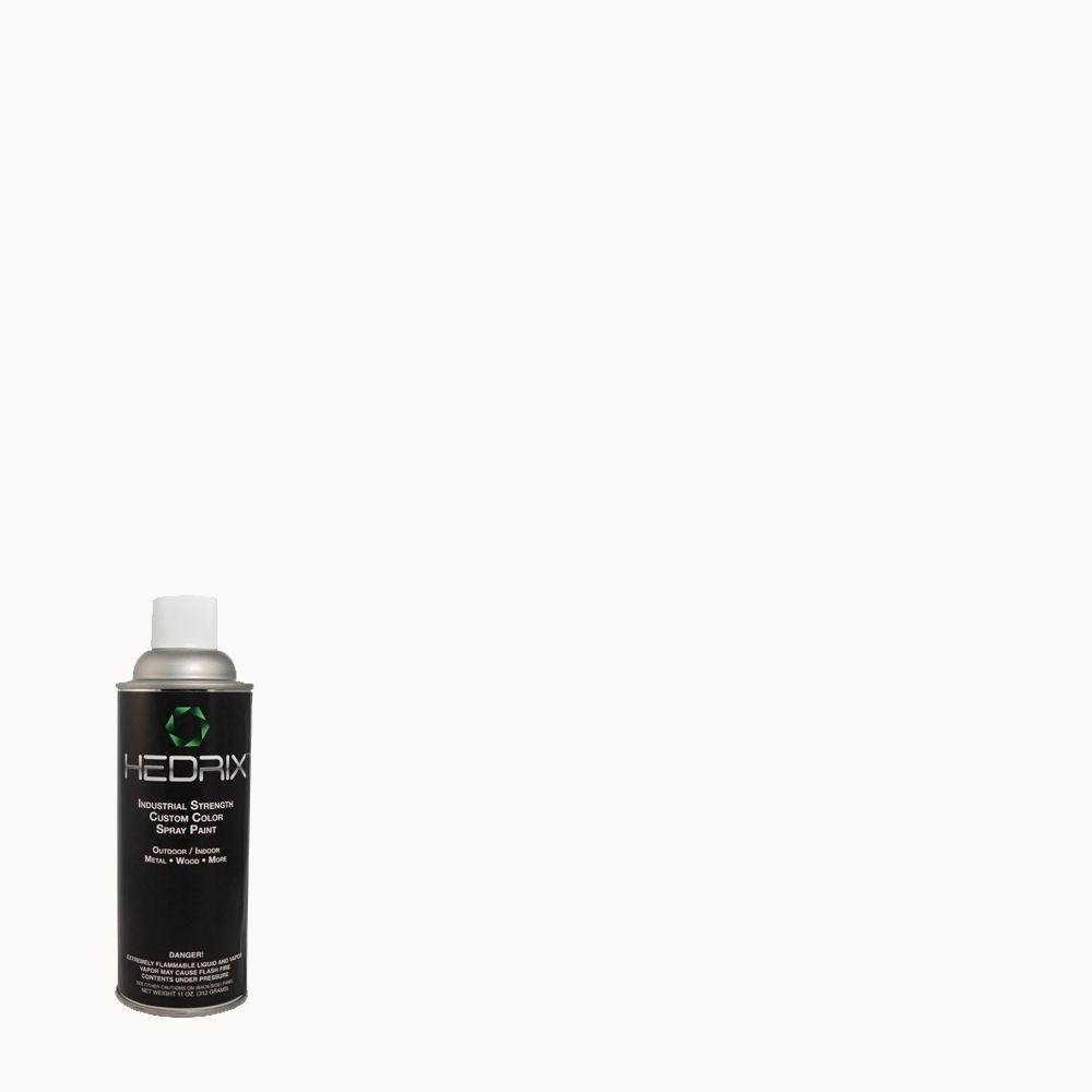 Hedrix 11 oz. Match of 1850 Ultra Pure White Semi-Gloss Custom Spray Paint (2-Pack)