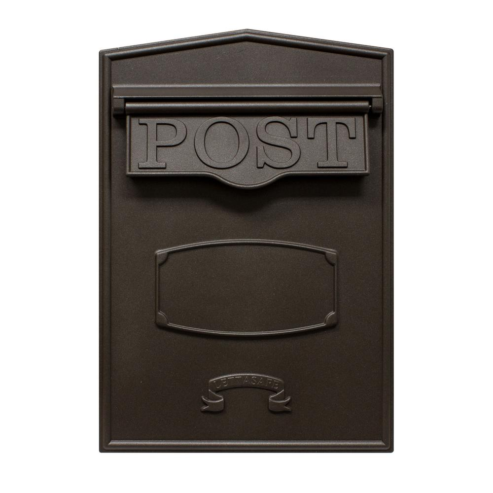 Bloomsbury Bronze Wall Mount Locking Mailbox
