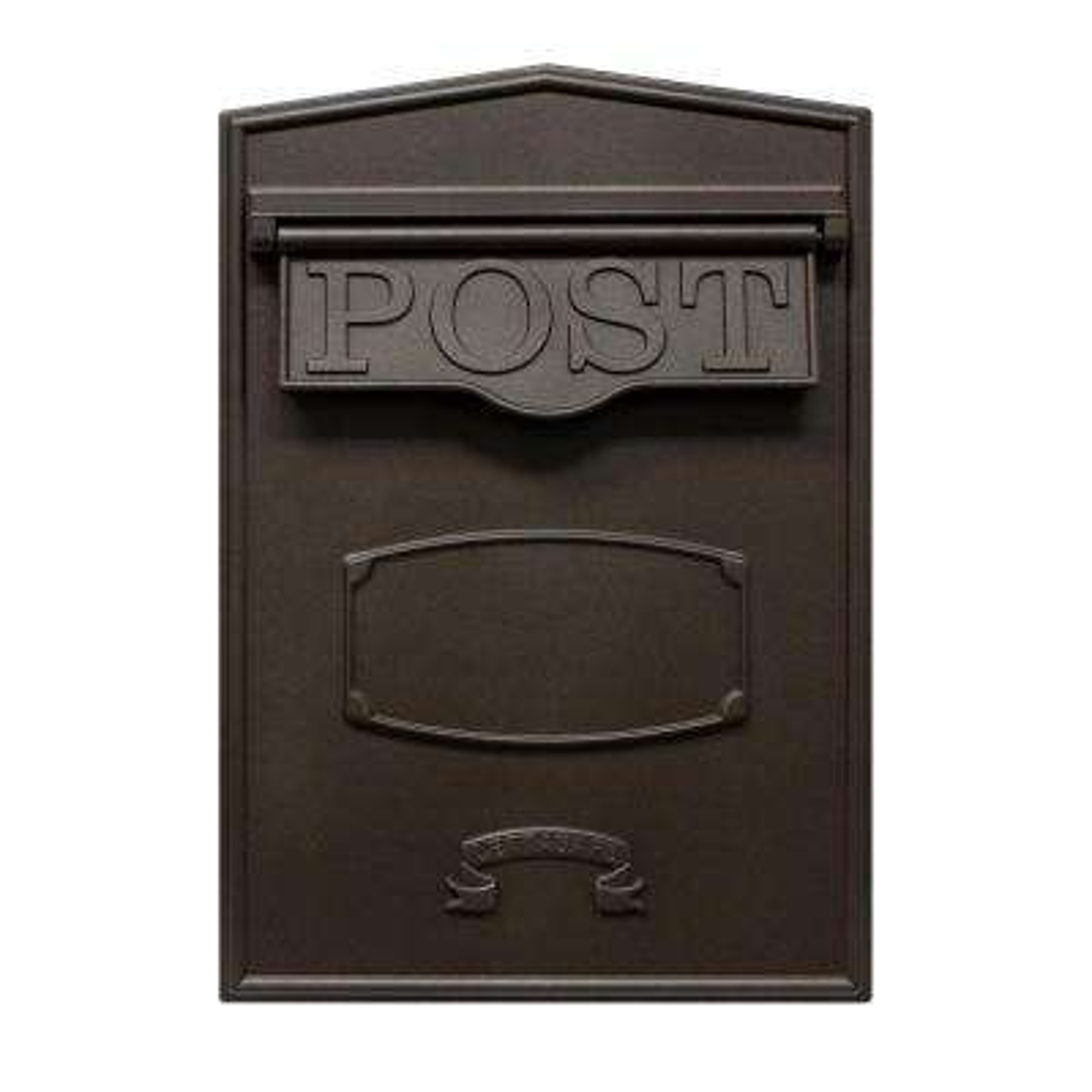 Bloomsbury Bronze Wall Mount Locking Mailbox