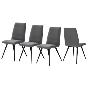 Deals on 4-Set Handy Living Kassandra Armless Upholstered Dining Chairs