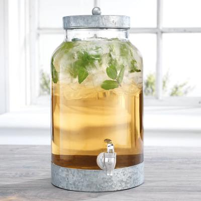 Fiddle and Fern 1.5 Gal. Dispenser with Galvanized Lid