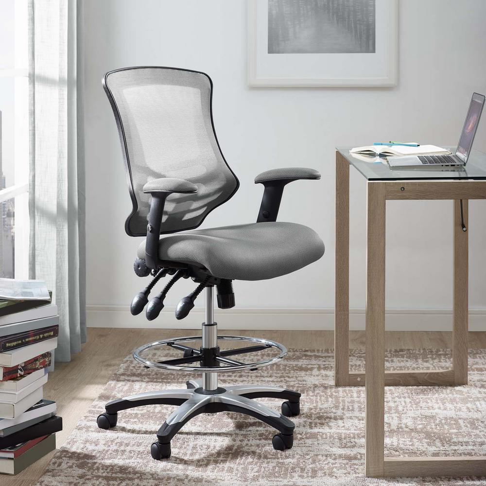Calibrate Mesh Drafting Chair in Gray