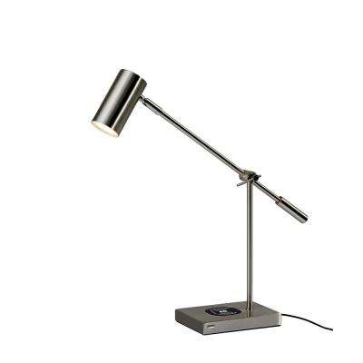 22 in. Steel Collette Qi Wireless Charging LED Desk Lamp