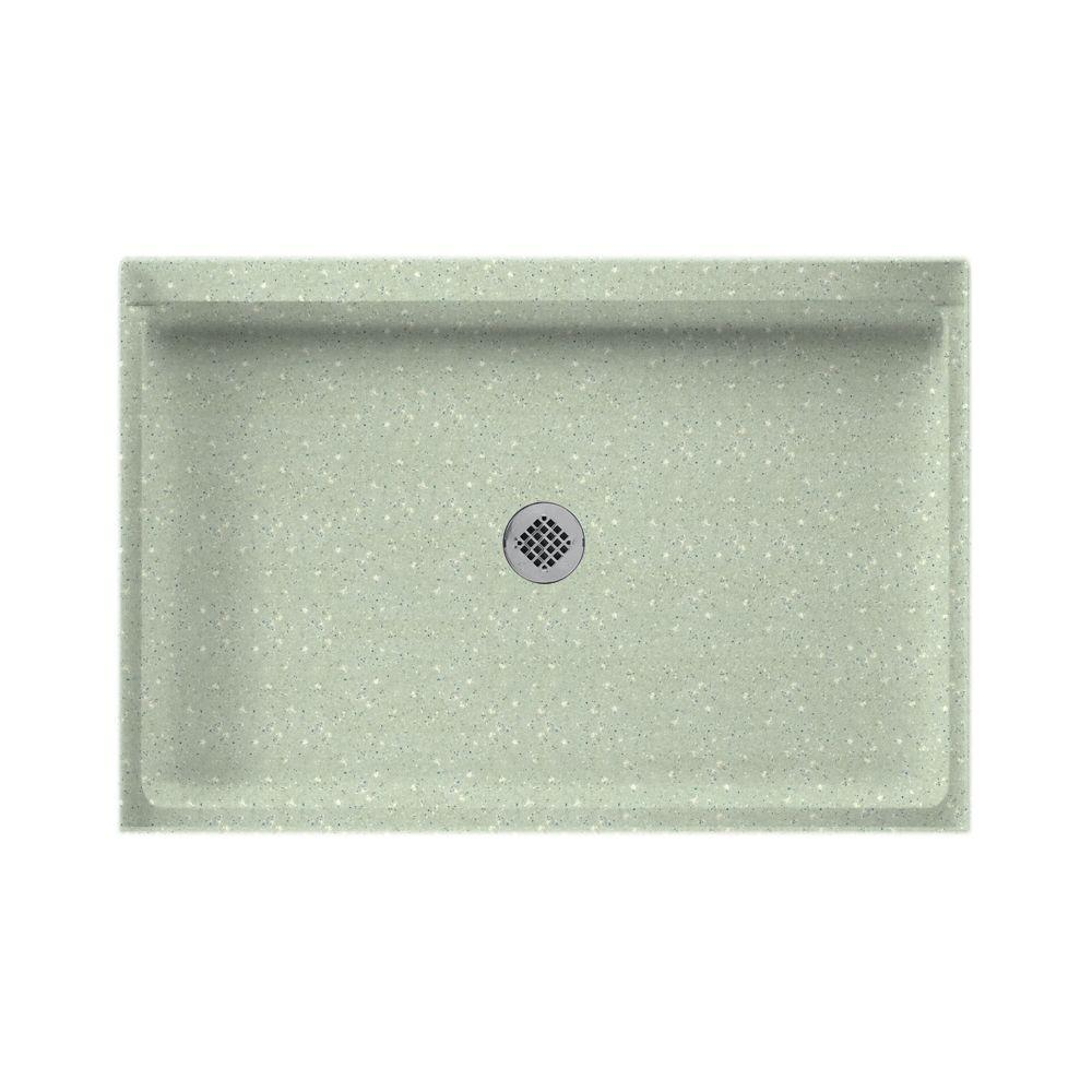 Swanstone 32 in. x 48 in. Single Threshold Shower Floor in Seafoam-DISCONTINUED