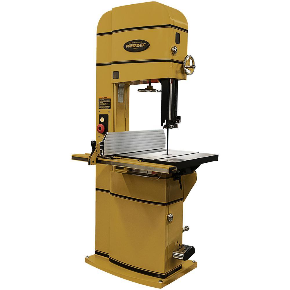 Powermatic Pm1800b 230 Volt 5 Hp 1ph Bandsaw 1791800b The Home Depot