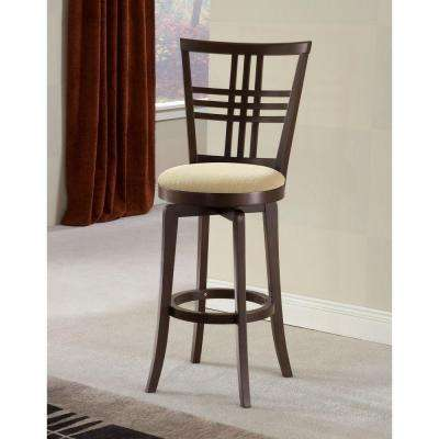 Tiburon II 25 in. Espresso Swivel Cushioned Bar Stool