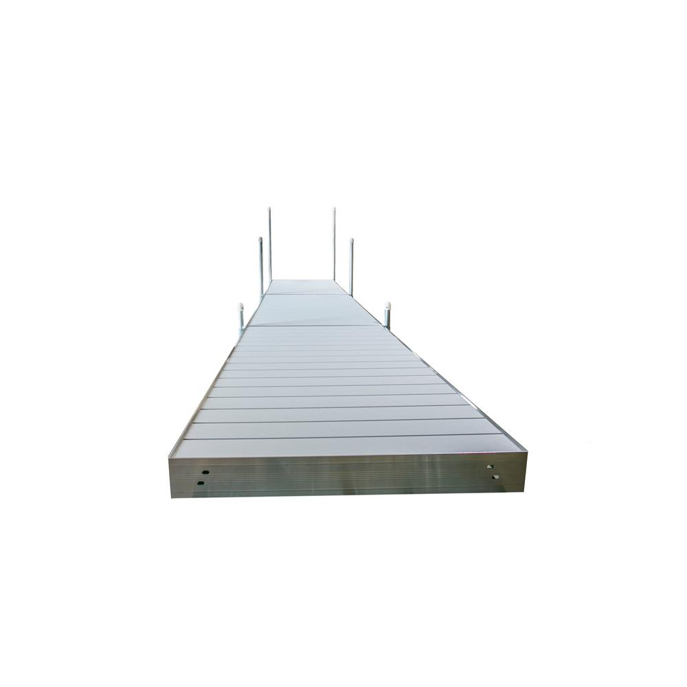Tommy Docks 24 ft. L Straight Aluminum Frame with Aluminum Decking Platinum Series Complete Dock Package